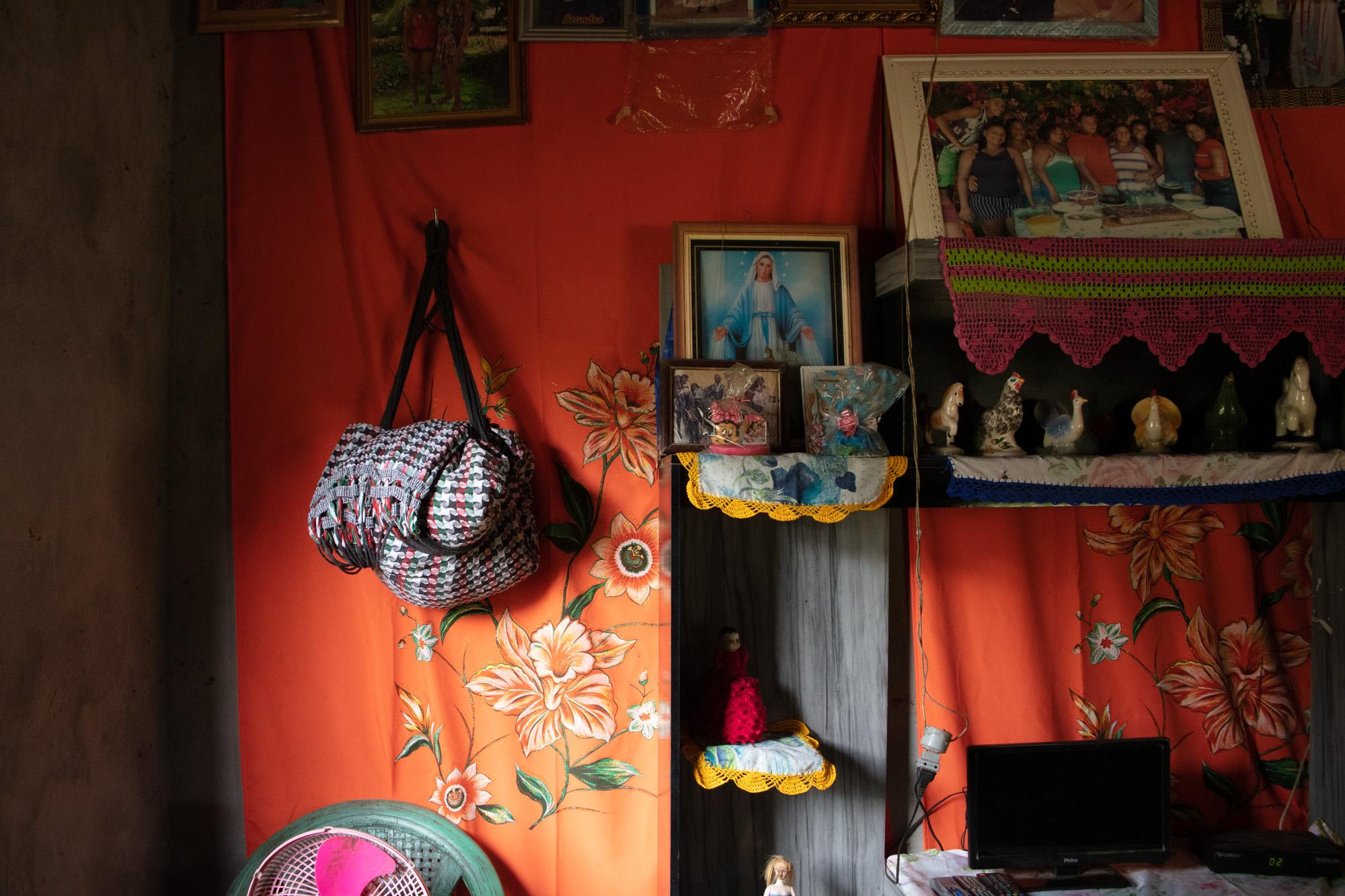 tecido laranja